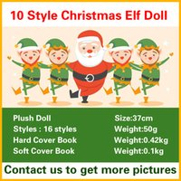 Wholesale boy girl soft toys for sale - Christmas Elf Doll Plush Toys Boy Girl Elves Hard Cover Soft Book Stuffed Dolls Kid Children XMAS Toys Decorations Gifts