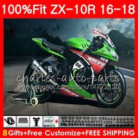 Wholesale kawasaki green red for sale - New red Injection For KAWASAKI NINJA ZX R ZX R ZX10R HM ZX1000 CC ZX R Fairing kit Green black