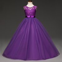 Wholesale dresses for weddings for sale - Group buy 5 Years Kids Dress for Girls Wedding Tulle Lace Long Girl Dress Elegant Princess Party Pageant Formal Gown for Teen Children