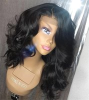 Wholesale peruvian wavy curly virgin hair for sale - Group buy Wavy Lace Front Wigs Natural Hairline With Baby Hair Virgin Peruvian Full Lace Human Hair Wigs