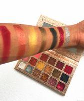 высокая пигментная тени для век оптовых-Оптовая нет логотип косметический 18 цветов сияющий блеск макияж тени для век матовый и мерцание высокий пигмент макияж тени для век палитры