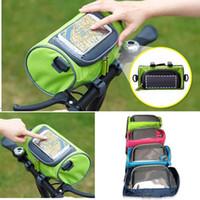 tubos de bicicleta envío gratis al por mayor-Bolso del manillar de la bicicleta Bolso de la bici del montar a caballo de la bici de la bicicleta accesorios impermeables de la bicicleta