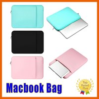 Wholesale Laptop Bags China - Laptop Sleeve Case Bag Soft inside Bag for Macbook pro air 11 12 13 15 15.6 inch Samsung Tablet High Quality