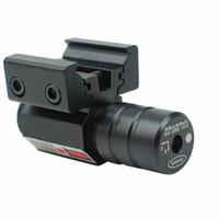 rail à points laser achat en gros de-Red Dot Laser Sight Pour Pistol Ajuster Rail Picatinny 11mm20mm Pour HuntIing 50-100 Mètres Gamme 635-655nm