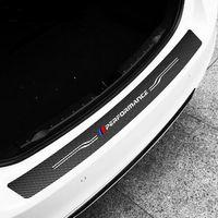 fibra de carbono x1 al por mayor-TPIC fibra de carbono Styling Car pegatinas de parachoques trasero cubierta para BMW E60 E90 F20 F30 F10 X1 X5 X6 M3 calcomanías de vinilo para maletero de coche