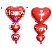 ingrosso palloncini per matrimoni-2 Taglie Baloon Big I Love You ang Happy Day Palloncini Decorazione festa Cuore Engagement Anniversary Weddings Valentine Balloons