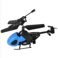 uzaktan kumandalı helikopter ücretsiz gönderim toptan satış-2018 Mini Rc helikopter 2CH 2.4G uzaktan kumanda helikopter uçağı elektronik oyuncaklar boys için Çocuk Hediye eğitici oyuncak modeli