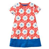 bebek kız kore kırmızı elbise toptan satış-Everweekend Kızlar Çiçek Ruffles Elbise Tatlı Bebek Kırmızı Yeşil ve Mavi Renk Giysileri Güzel Çocuklar Kore Moda Yaz Tatil Pamuk giyim