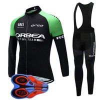 ropa pro ciclismo al por mayor-Equipo ORBEA Ciclismo mangas largas jersey babero shorts conjuntos Transpirable Ciclismo Ropa MTB maillot Ropa Ciclismo 100821F