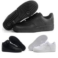 online retailer ca421 96082 2018 2018 Nike Air Force 1 Af1 Top qualité Hommes Femmes Flyline Chaussures  de Course Sport Skateboard Ones Chaussures Haute Basse Taille Blanc Noir En  ...