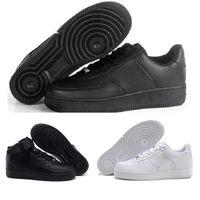 zapatos casuales de corte alto al por mayor-2018 Nike Air Force 1 Af1 de calidad superior Hombres Mujeres Flyline Running Shoes Deportes Skateboarding unos Zapatos High Low Cut Blanco Negro Outdoor Trainers Sneakers