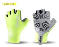 гелевая противоскользящая прокладка оптовых-Anti Slip Gel Pad Велосипедные перчатки Gel Pad Короткие Половина Finger Велосипедные перчатки Дышащие Спорт на открытом воздухе Мужчины MTB Велосипедные перчатки