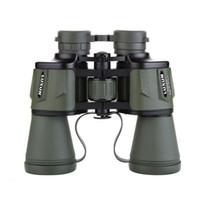 jumelles de chasse achat en gros de-Télescope binoculaire optique zoom 20x50 - Vert armée noir Voyage en plein air Camping jumelles de chasse avec boîte Livraison gratuite