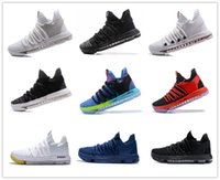 Wholesale Christmas Pre - Newest arrival kevin Durant KD10 IX USA Pre-Heat Cool Grey men basketball kd 9 Oreo Zero Elite sports shoes mens kds sneakers