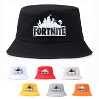 Wholesale 2019HOT Colors Fortnite Printed Caps Teenager Fisherman Hat Summer Bucket Hat fashion Sunhat Fishing Outdoor Hats