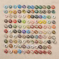ingrosso porcellana perline perline-Charms in perle di vetro argentato per bracciale Pandora ordine misto