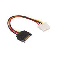 cabo sata para laptop venda por atacado-SATA 15-PIN Masculino poder apropriado para Molex IDE 4-PIN fêmea Drive Adapter Line gadget para Computador PC Converter Laptop Cable