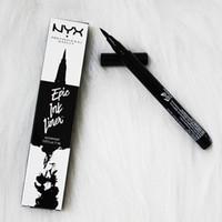 Wholesale metallic eye pencil online - NYX Epic Ink Liner nyx Black Eyeliner Pencil Headed Makeup Liquid Black Color Eye Liner Waterproof Cosmetics Long Lasting