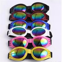 Wholesale summer dogs - Foldable Pet Dog Sunglasses Medium Large Dog Glasses Big Pet Eyewear Waterproof Dog Protection Goggles UV Sunglasses bb10-16 2018010920
