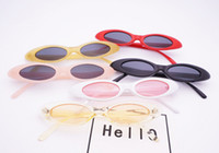 Wholesale jelly cats wholesale - New Oval Narrow Cat Eye Sunglasses Small Size Framed Water Droplets Jelly Trend Sunglasses Vintage sports Sunglasses outdoor eyewear GGA43