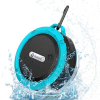 Wholesale C6 Speaker Bluetooth Speaker Wireless Potable Audio Player Waterproof Speaker Hook Suction Cup Stereo Music Player With Retail Pack