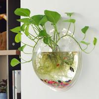 ingrosso decorazioni del serbatoio di pesce di natale-O.RoseLif Round Wall Idroponica Vaso per acquario Rotonda serbatoio di pesce Decorazione della casa Vasos Decorativos Fish Tank natale
