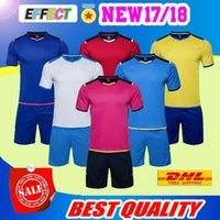 Wholesale Team Jersey Sets - Free shipping Any team custom 2018 Top quality Soccer Jersey goalkeeper adult set football jersey kit Training suit