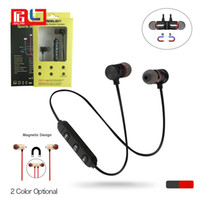 Wholesale waterproof bluetooth earphones - M9 Magnet Metal Sports Bluetooth Headset V4.2 Stereo Waterproof Sweat-proof Running GYM Sport Earphone With Mic For Mobile Phone Calls
