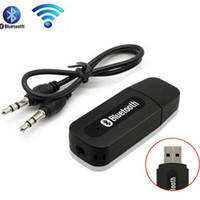 Car Bluetooth Aux wireless portable mini Black bluetooth Music Audio Receiver Adapter 3.5mm Stereo Audio for iPhone Android phones