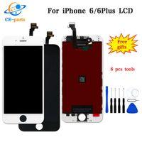 iphone сенсорный дигитайзер сенсорный полный оптовых-ЖК-дисплей для iphone 6 6S 7G 8G с сенсорным дигитайзером Полный экран с рамкой Полная сборка запасных частей DHL Ship Black / White