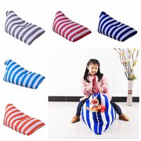 Wholesale shape clothes - Stuffed Striped Storage Bean Bag Diamond Shaped Storage Chair Portable Kids Clothes Toy Storage Bags 5 Colors OOA3974