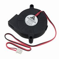 12v cpu soğutma fanı toptan satış-Fan Hayranları Soğutma Gdstime 2 adet 5 cm Santrifüj Blower Fan 50mm x 15mm DC 12 V 5015 Bilgisayar PC Kasa CPU Soğutma