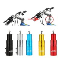 alliage de fourche achat en gros de-En alliage d'aluminium Pièces de vélo Cycle Heads Up Tube Prolonger Fourche Stem Extender Mountain Bike Accessoires Dispositif D'augmentation 15qt jj