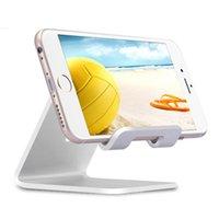 ipad için alüminyum ayaklığı toptan satış-Alüminyum Metal Sahipleri Tablet Ipad Telefon Evrensel Tutucu Danışma Destek Standı iphone x 8 7 artı Samsung s8 artı tabletler En