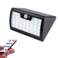 Wholesale pir lighting control - 2018 New Remote Control Solar Wall Light 40LED 900lm Waterproof Brightness Adjustable PIR Motion Smart Light for Yard Walk way