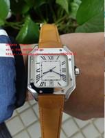 b2cb17656759 mejor versión Alta calidad 100 Acero XL W20073X8 42 mm esfera blanca Correa  de cuero Asia mecánico Reloj automático para hombre