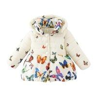 jaqueta de bebê macio venda por atacado-Bebê Meninas Inverno Super Quente Casaco de Algodão Macio Borboleta Mangas Compridas Moda Casaco Jaquetas 2018 Novo