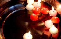 flutuante, velas, casório, decorações venda por atacado-Sem fumaça romântico flutuante cera banquete de Casamento decoração do partido vela flutuante de água 95 pçs / set