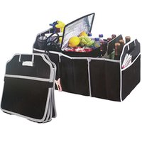 Wholesale used boots for sale - Car Auto Waterproof Foldable Black Boot Organizer Storage Bag Portable Auto Storage Box Multi use Tools Organizer DHL Free BH20