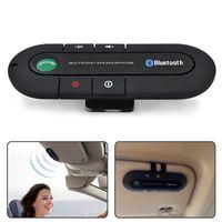 ingrosso visiera dell'altoparlante del bluetooth-Bluetooth Connessione 4.1 + EDR Multipoint Speakerphone Vivavoce Car Kit Vivavoce bt980 Dual Phone con musica MP3