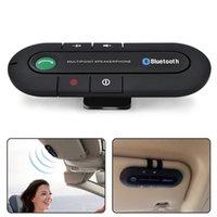 kit mãos livres de viseira bluetooth venda por atacado-Bluetooth Speaker 4.1 + EDR Multipoint Speakerphone Kit Mãos Livres para Altifalantes com Visor de Sol bt980 Dual Telefones com Música MP3