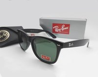 Wholesale Vintage Sunglasses Sale - Hot Sale Ray Aviator Sunglasses Vintage Pilot Brand Sun Glasses Bans UV400 Men Women Ben Mirror 2140 54mm Glass Lenses With Case