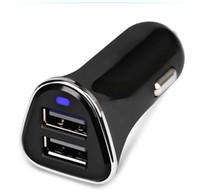 adaptador para iphone usb venda por atacado-5v 3.4a mini usb carregador de carro duplo para o telefone móvel 2 porto usb carregador de carro adaptador para iphone samsung xiaomi huawei