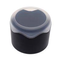 черные круглые губки оптовых-Круглая пластиковая одиночная коробка дозора с чернотой валика губки