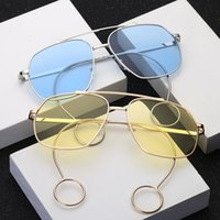 glasses nose pads achat en gros de-UV400 Myopie Lentille Lunettes de Soleil Integral Pad Porte-Nœud Ronde Lunettes de Soleil Durable Plain Lunettes de Verre Pour Hommes Femmes 12fy BB