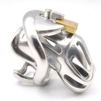 Wholesale adult male sex shock toys for sale - Group buy New Embedded Modular Design Male Electric Shock Stainless Steel Cock Cage Penis Ring Bondage Lock Chastity Device Adult BDSM Sex Toy A370S