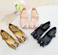 sapatos de borracha sandálias garota venda por atacado-3 cores crianças shoes mini melissa meninas princesa new limited strap bebê de borracha bonito mickey sandálias meninas mickey summer shoes