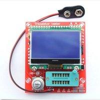 kits de condensadores al por mayor-Freeshipping DIY KITS Combo Digital Componente M8 Transistor Tester Capacitor LCR Diodo Capacitancia Medidor ESR PWM Onda cuadrada 12864 LCD