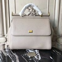 Wholesale doctor dot - big size 25cm & 28cm women handbag classic and moden combine fashion creative genuine leather palmprint handbag free shipping good quality