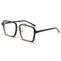 4d5549bbe37 Black square frame glasses for men vintage 2019 clear lens transparent  decorative eyeglasses frames for women trends